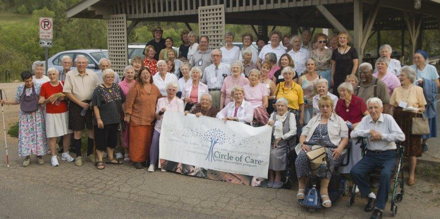 Circle of Care Members enjoy the Colorado Music Festival at Chautauqua Park